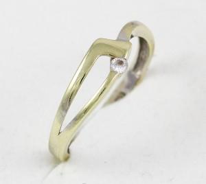 Prsten z bílého zlata s očkem
