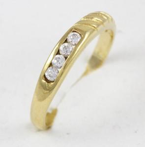 Dámský prsten s kameny 4ks