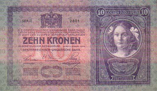 Rakousko uhersko bankovka