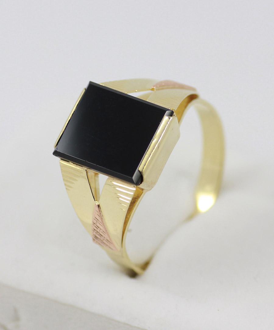 c5f34a353 Pánský zlatý prsten s kamenem - 200 šperků online