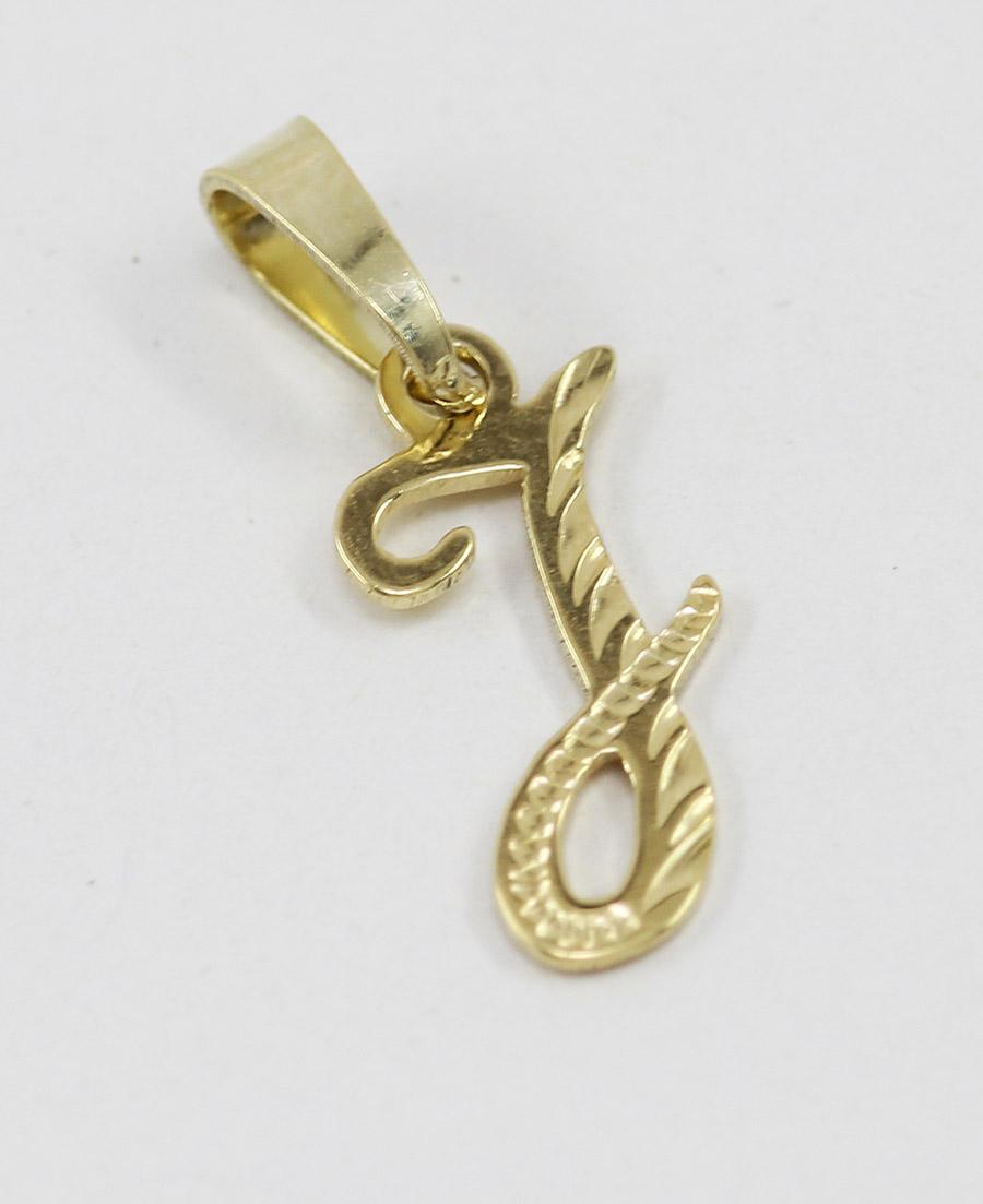 0e7e0c7fb Zlatý přívěsek písmeno J - 500 šperků online