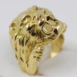 Zlatý pánský prsten lev