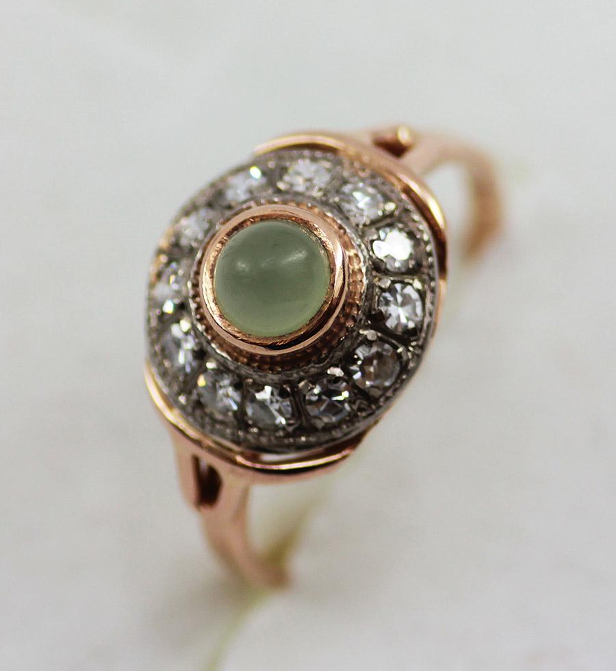 Prsten retro historický s diamanty