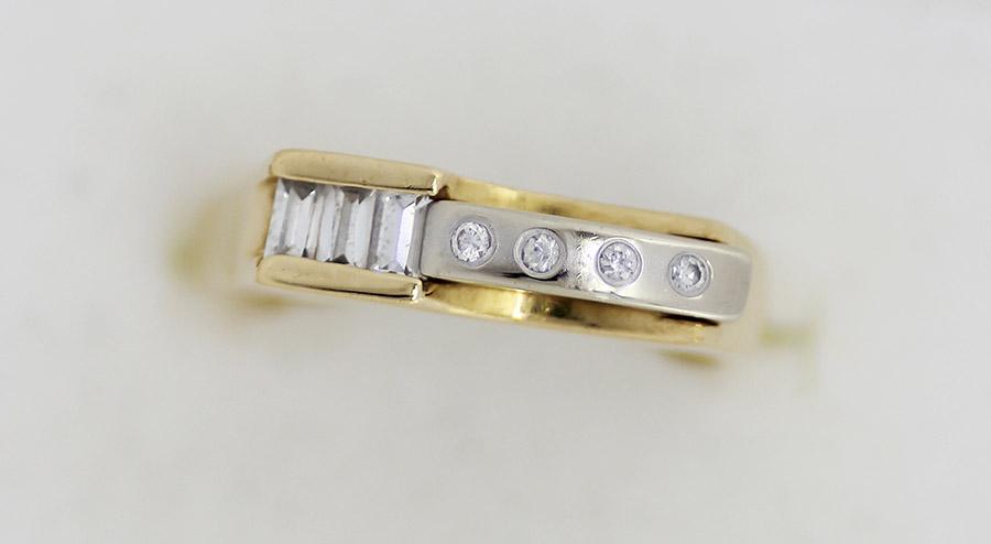 e3785c640 Zlatý pánský prsten se zirkony 18K - 200 šperků online