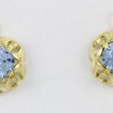 Zlaté náušnice s modrými kameny