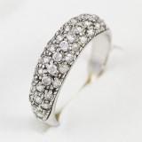 Prsten v bílém zlatě s kamínky