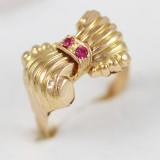 Zlatý prstýnek mašle