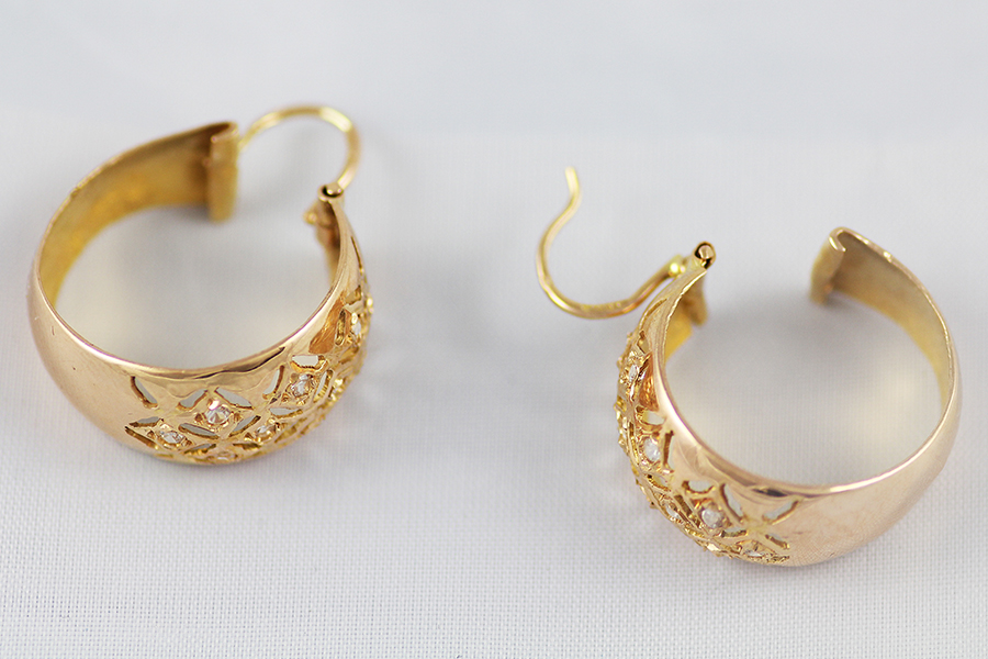 a36569669 Náušnice z červeného zlata s kameny - Zastavárna a Bazar Zlín - U ...