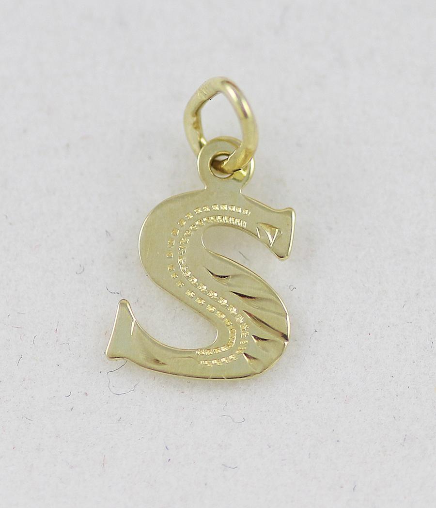ba16c68f4 Zlatý přívěsek písmeno S - Zastavárna a Bazar Zlín - U radnice