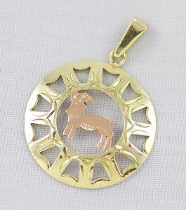 Zlatý přívěsek kozoroh