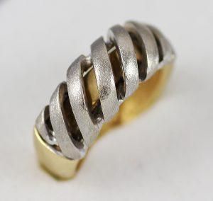 Masivní prsten v kombinaci