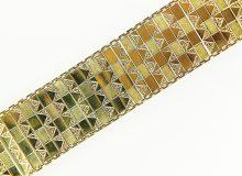 Zlatý silný páskový náramek