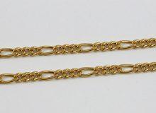 Zlatý řetízek s střídavými velikostmi oček
