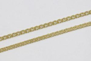 Zlatý řetízek s propletenými kroužky