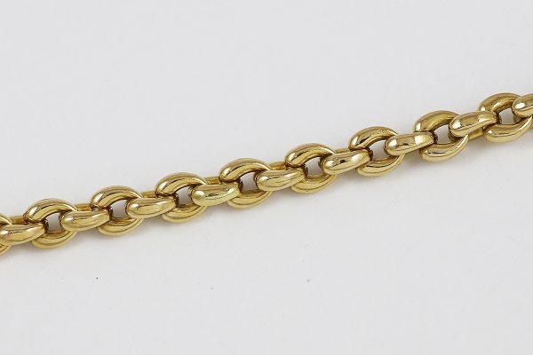 Masivní zlatý náramek s kombinací zlata