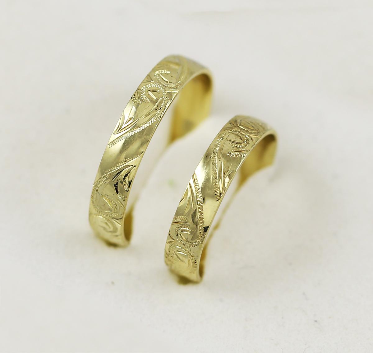 Ozdobne Ryte Snubni Prsteny