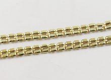 Skládaný lehčí zlatý náhrdelník