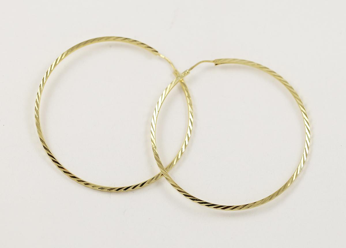 b09b087cb Zlaté náušnice velké lehké kruhy - Zastavárna a Bazar Zlín - U radnice