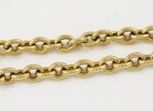 Masivní očkový zlatý náhrdelník