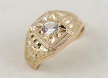 Pánský retro prsten s kamenem