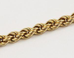 Zlatý masivní kroucený náramek