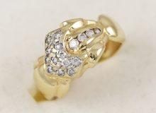 Masivní prsten s kameny