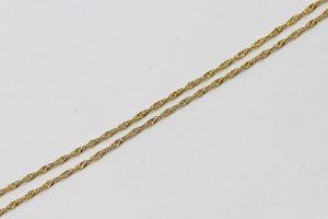 Kroucený řetízek ve žlutém zlatě