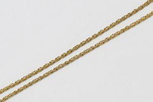 Zlatý řetízek nahuštěné kroužky