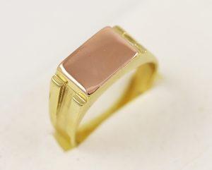 Pánský prsten ploška