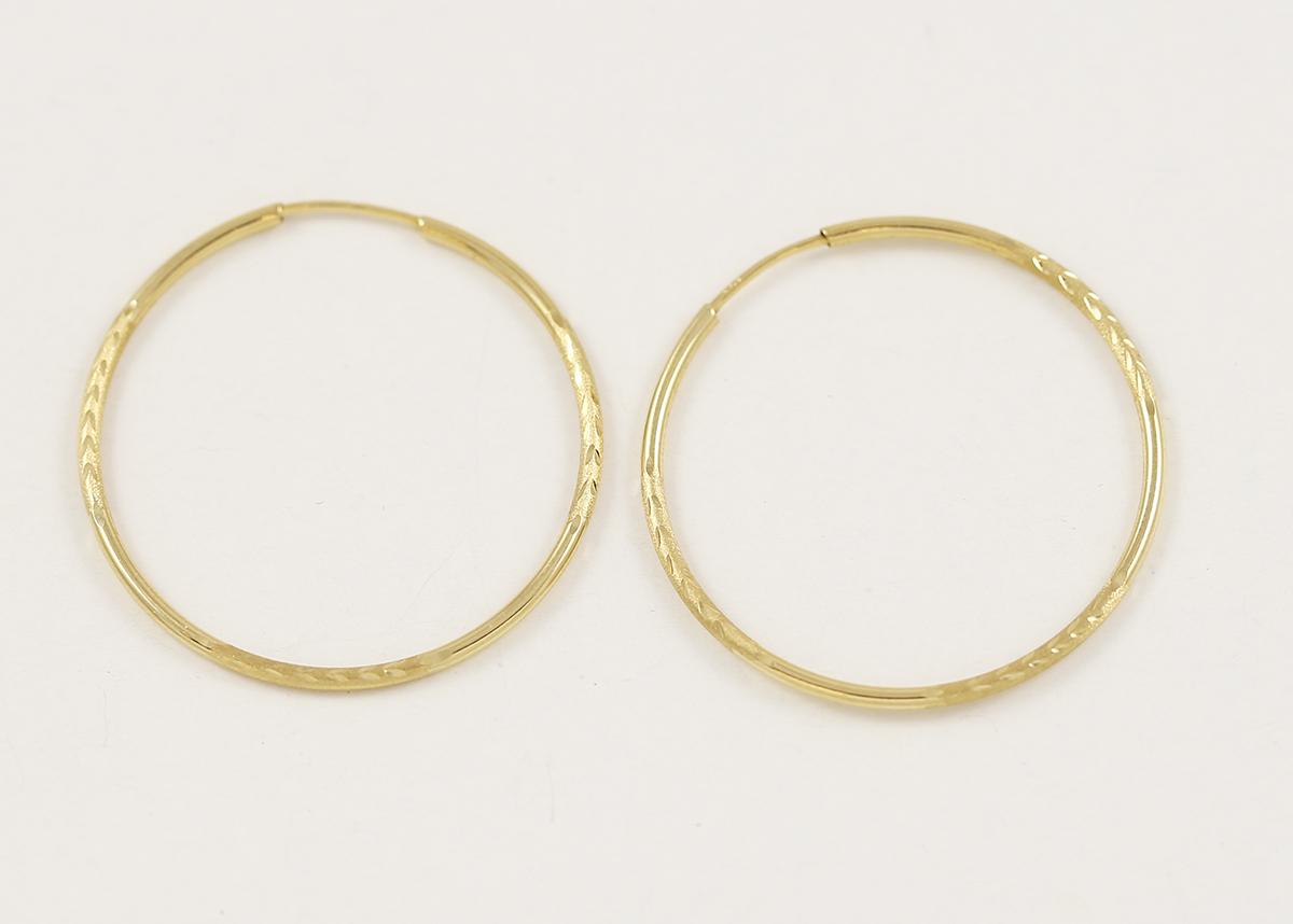 f0a70f7d0 Velké zlaté náušnice kruhy s matováním - Zastavárna a Bazar Zlín - U ...