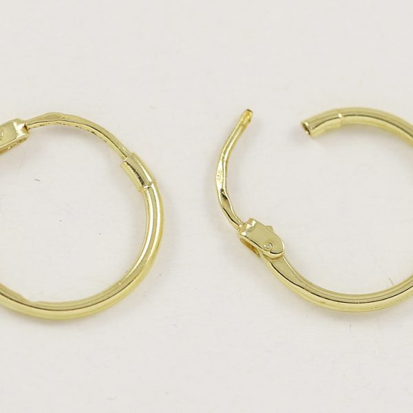 Zlaté náušnice menší kroužky