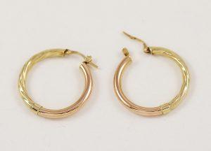 Zlaté náušnice duté kruhy