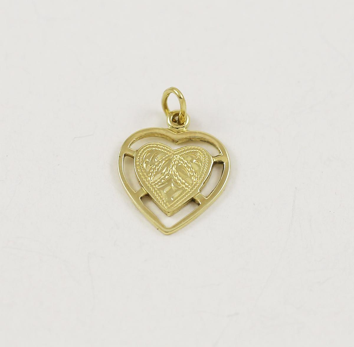 960a9665d Zlatý přívěsek srdce s obrubou - Zastavárna a Bazar Zlín - U radnice