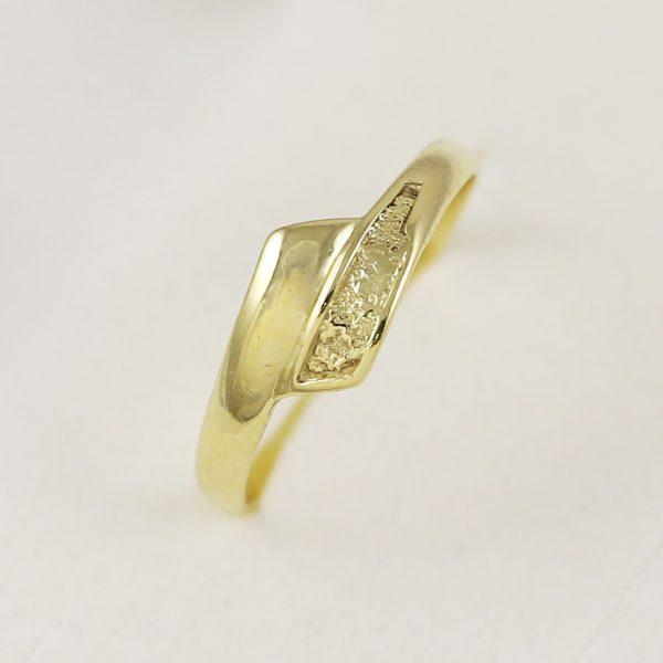 Celo-zlatý prsten spirála