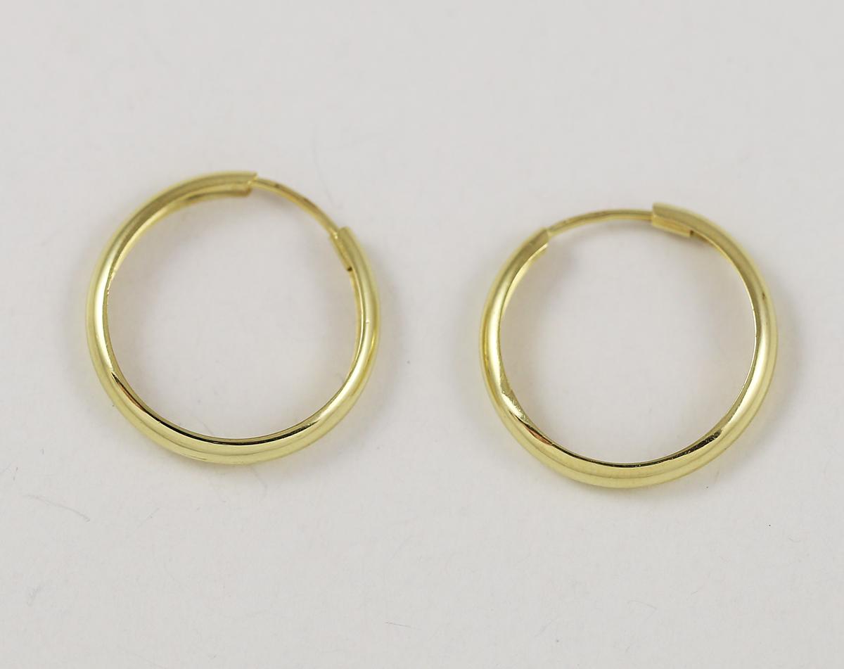fe09883f3 Zlaté náušnice vyduté kruhy - Zastavárna a Bazar Zlín - U radnice