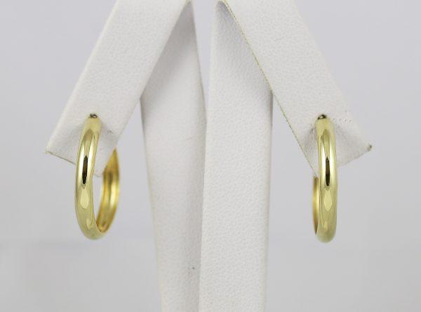 Zlaté náušnice vyduté kruhy