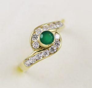 Prsten kombinace kamínků