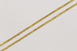 Jemný zlatý ploškový řetízek