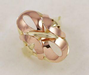 Celozlatý prsten v kombinaci