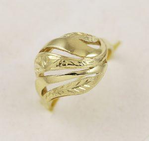 Dámský prsten ze žlutého zlata
