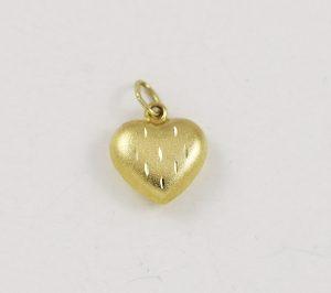 Zlatý přívěsek oboustranné srdce