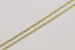 Zlatý řetízek oválné dvoukroužky