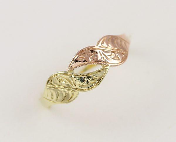 Zlatý prsten dvou barev