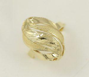 Zlatý prsten masivní lux