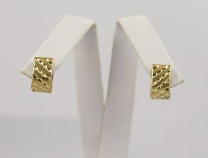 Zlaté náušnice matované