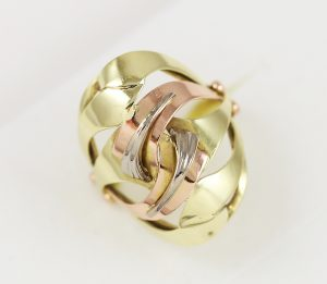 Prsten masivní celozlatý v kombi