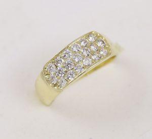 Prsten lux se zirkony