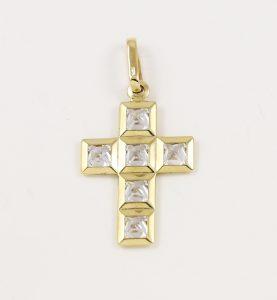 Křížek moderní s kameny