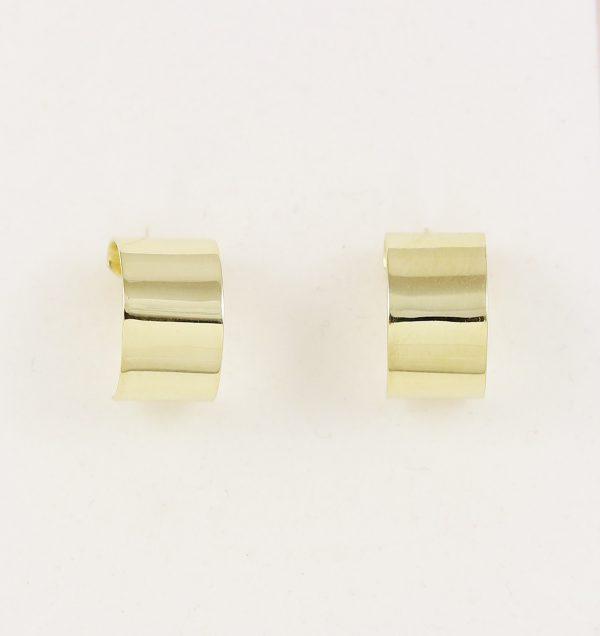 Zlaté náušnice zakulacené pásky