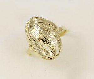 Prsten celozlatý velký